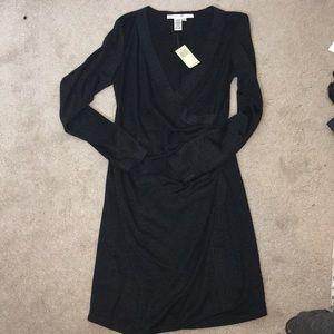 NWT Max Studio grey wrap dress